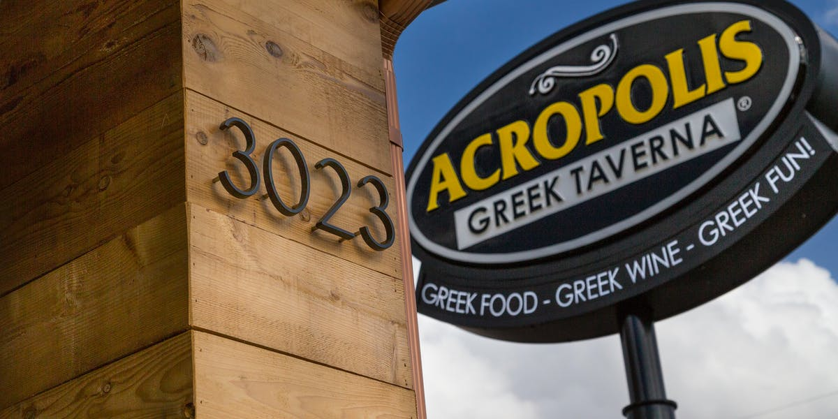 Hours + Location   Acropolis Greek Taverna