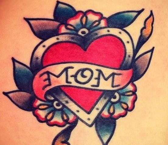 a close up of a tattoo