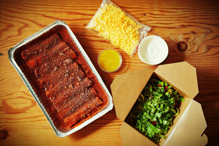 Enchiladas in packaging