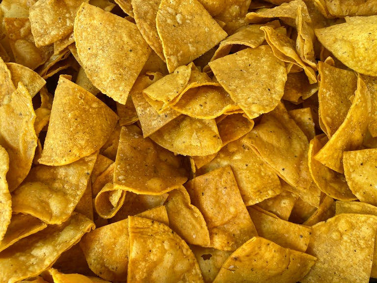 A pile of chips