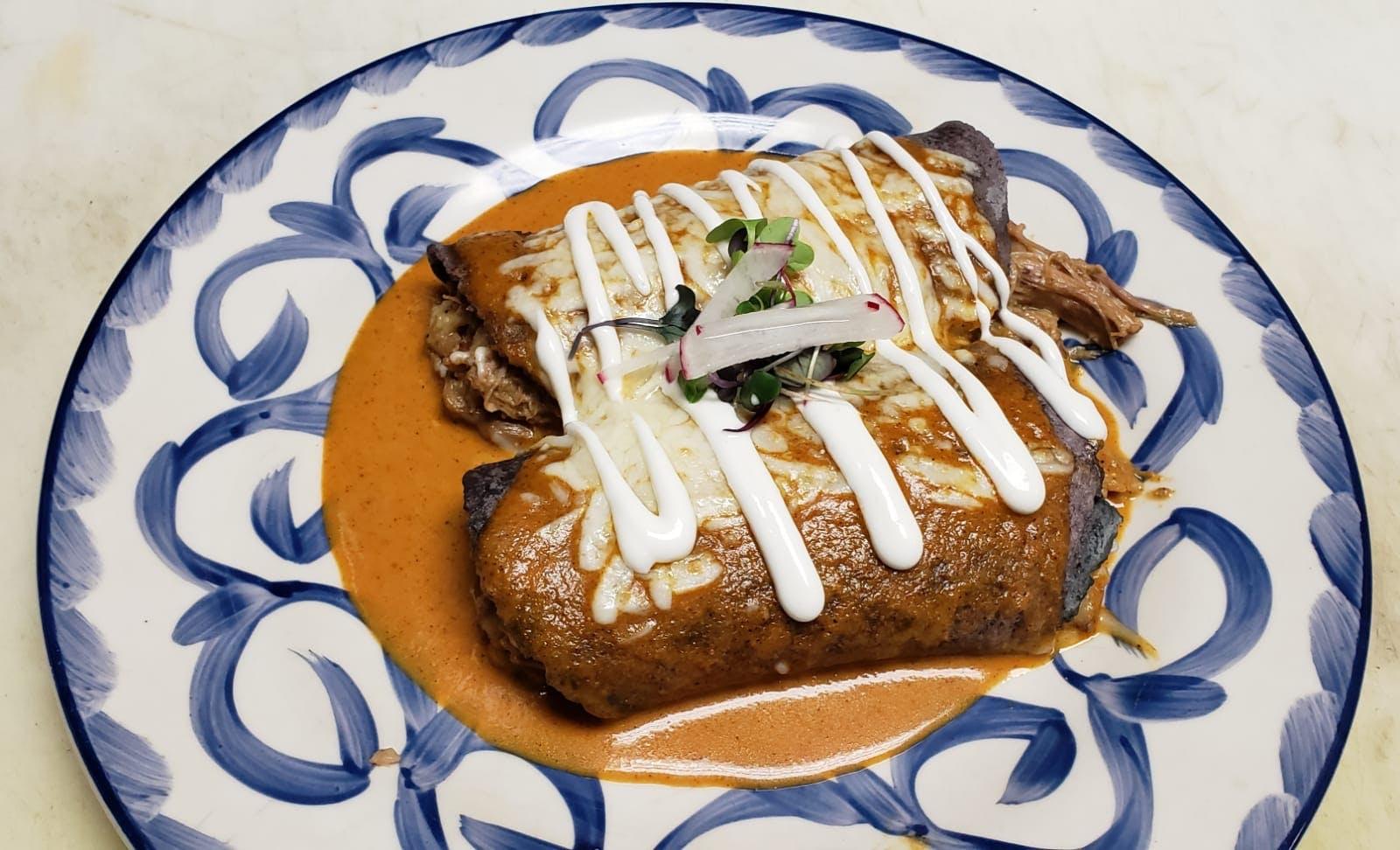 Duck Confit Enchiladas