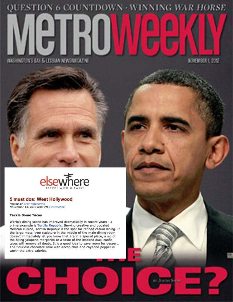Mitt Romney, Barack Obama are posing for a picture