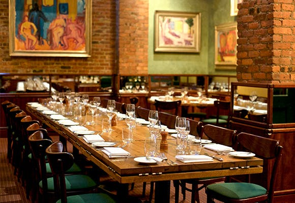 dining tables at a restaurant