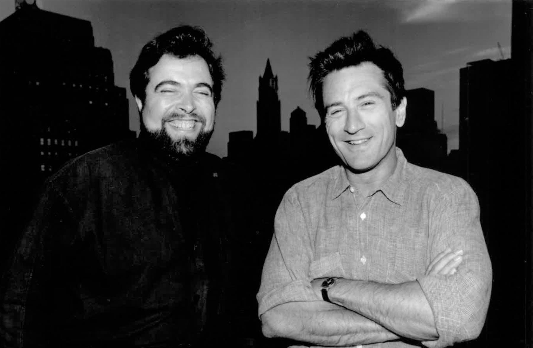 Drew Nieporent, Robert De Niro are posing for a picture