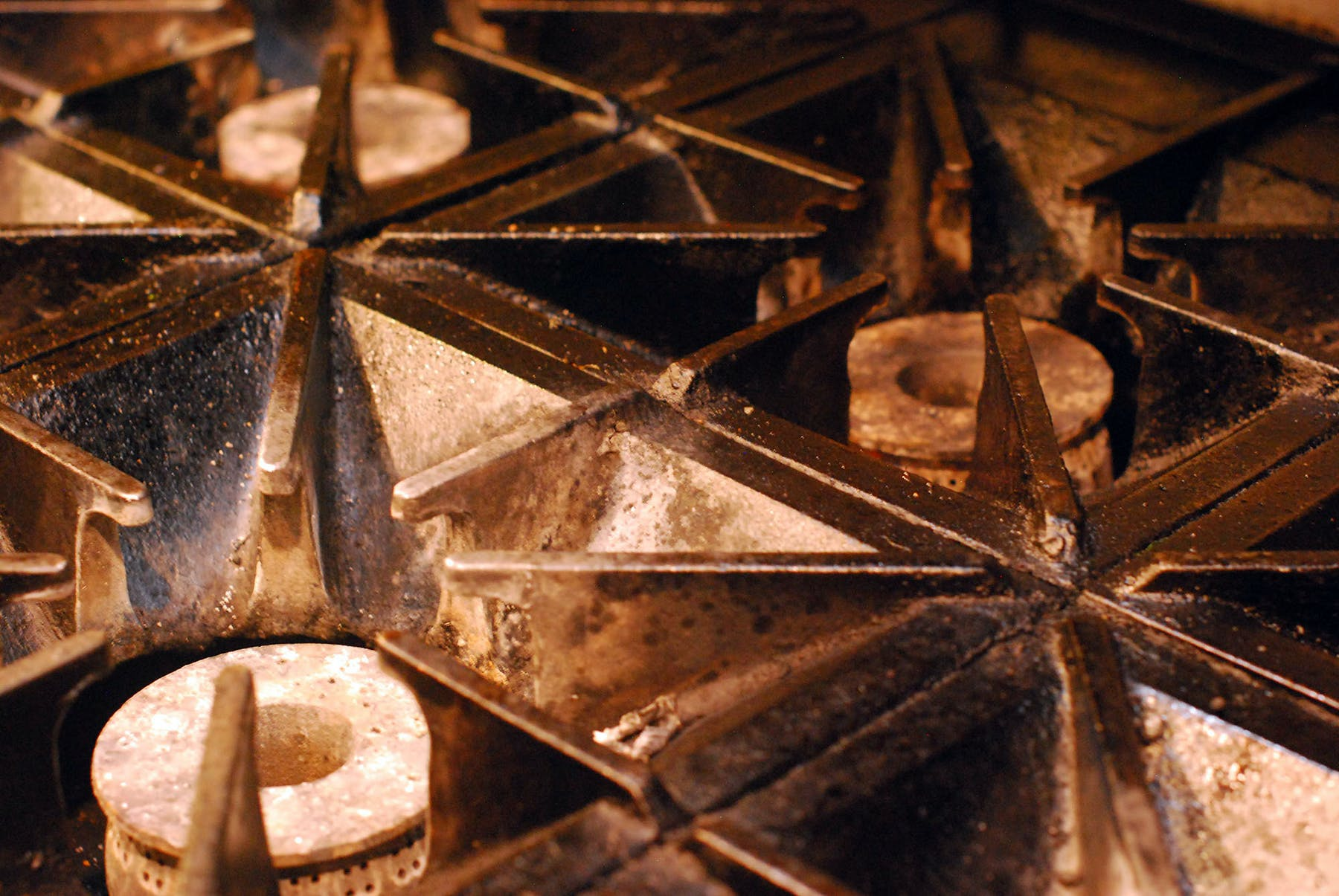 a close up of an oven