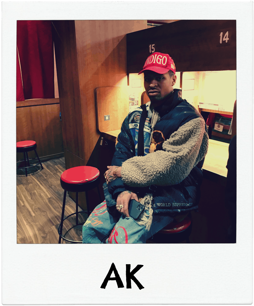 AK sitting at Ichiran ramen