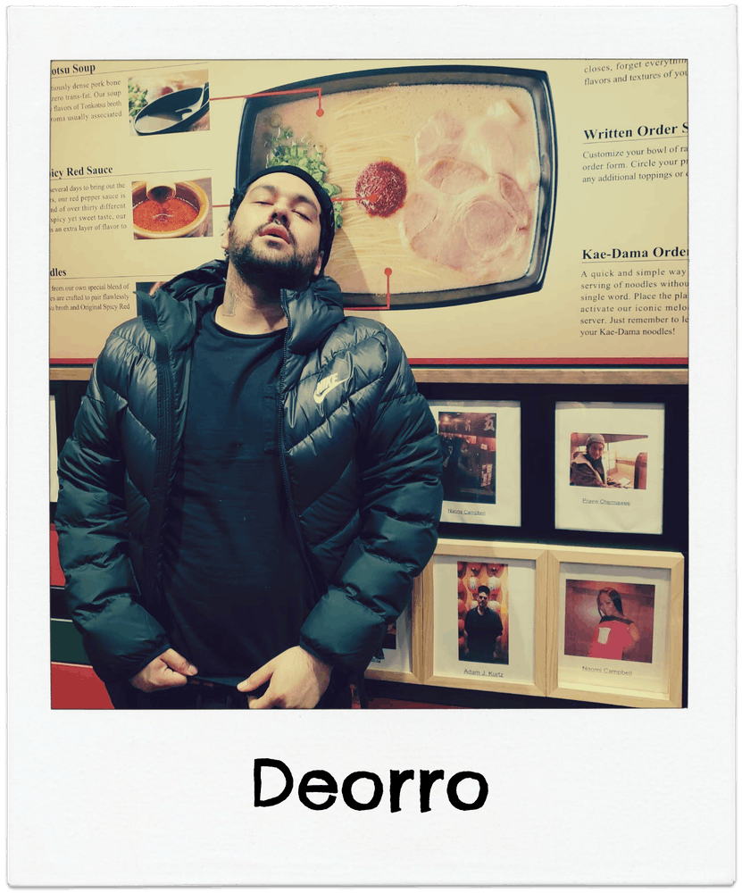 Deorro posing for a photo