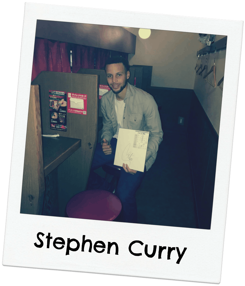 Stephen Curry at Ichiran Ramen