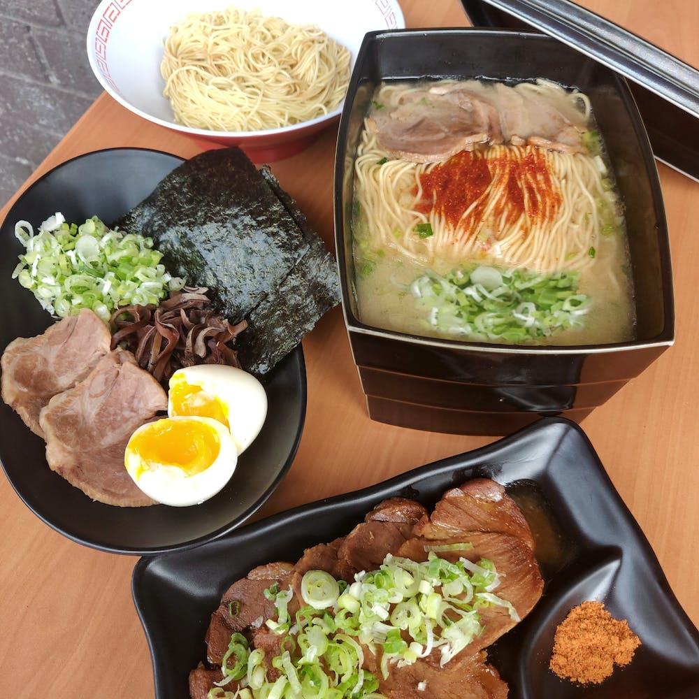 Ramen Prix Fixe Set (Classic Tonkotsu Ramen, Recommended Toppings, Kae-Dama, Premium Yakibuta)