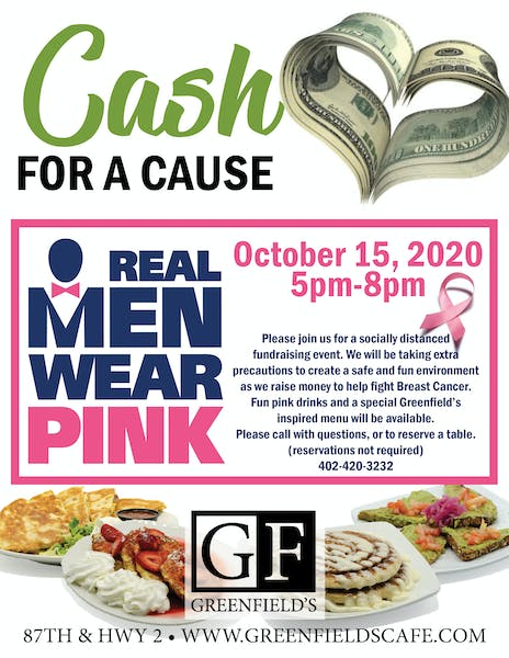 Real Men Wear Pink - Cash For A Cause Event!