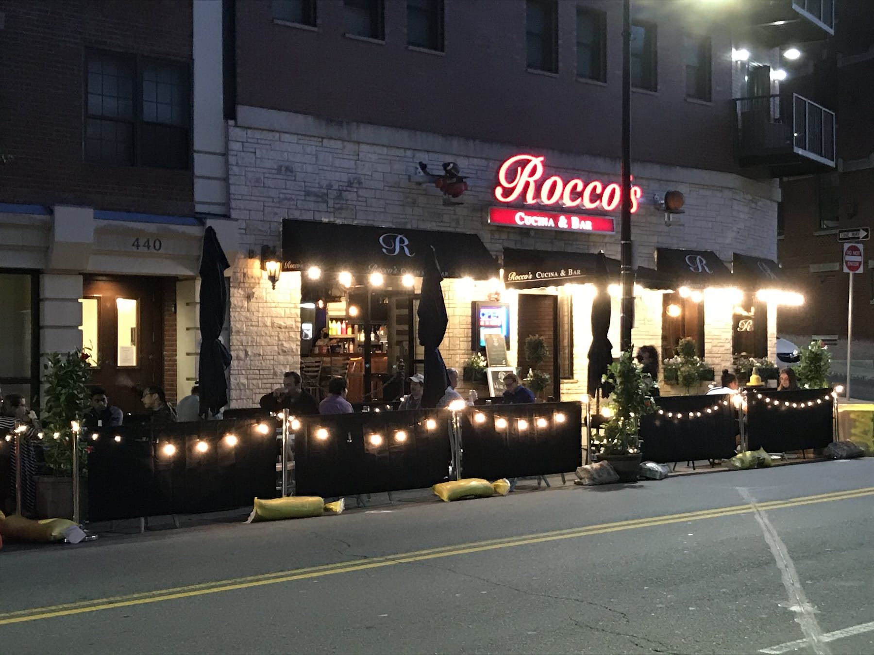 Outside Dining At Rocco's