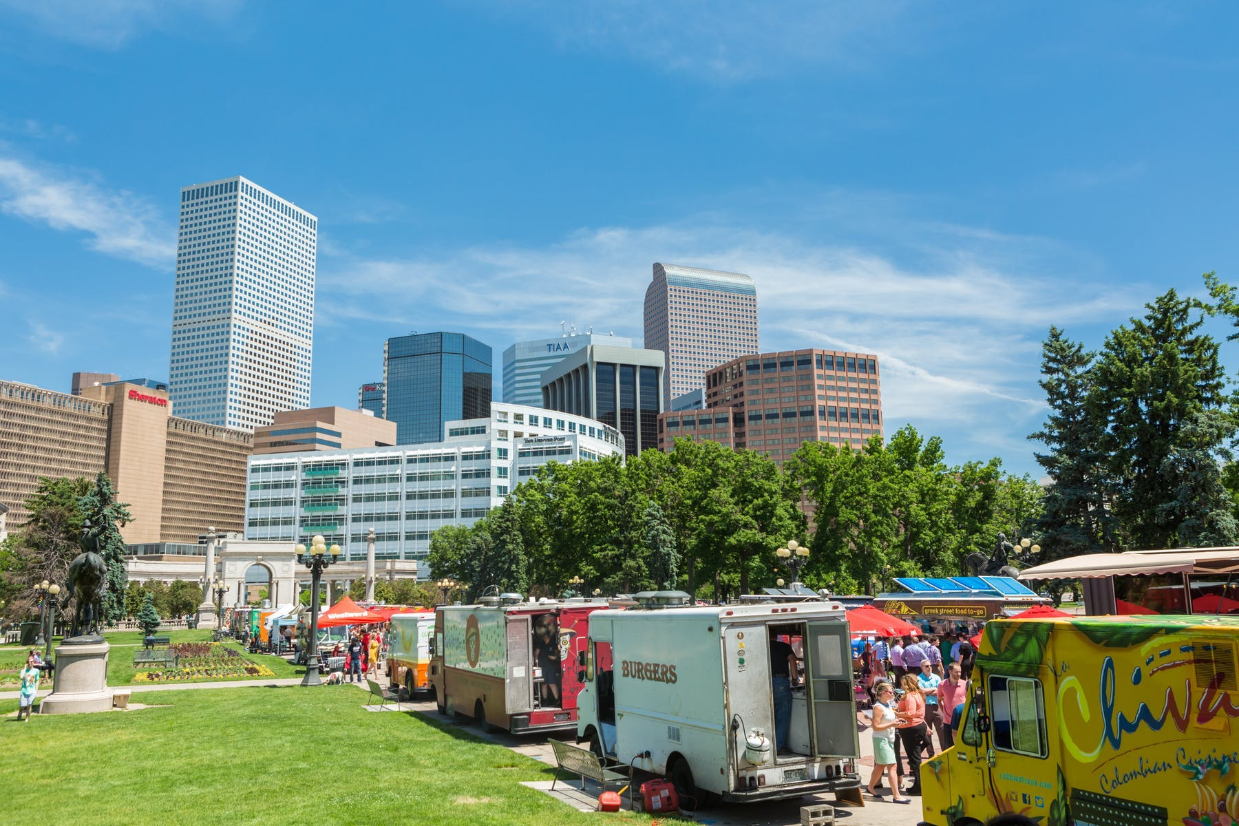 a group of food trucks