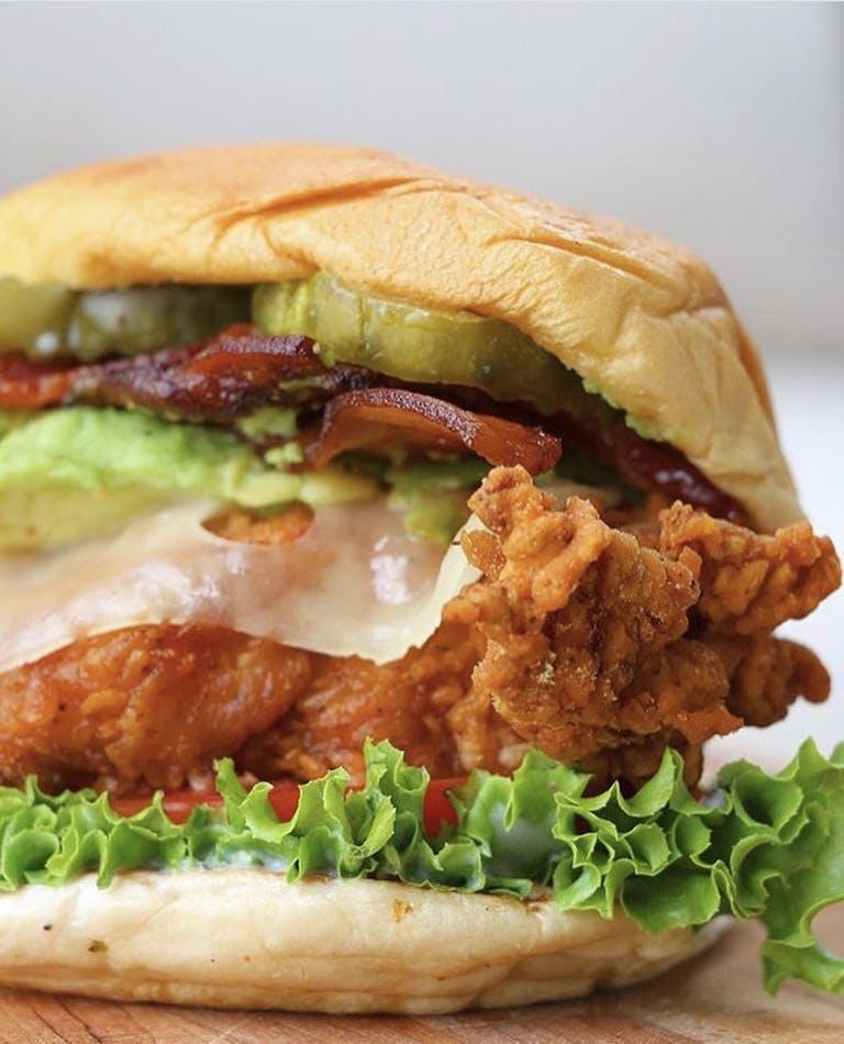 a close up of a sandwich