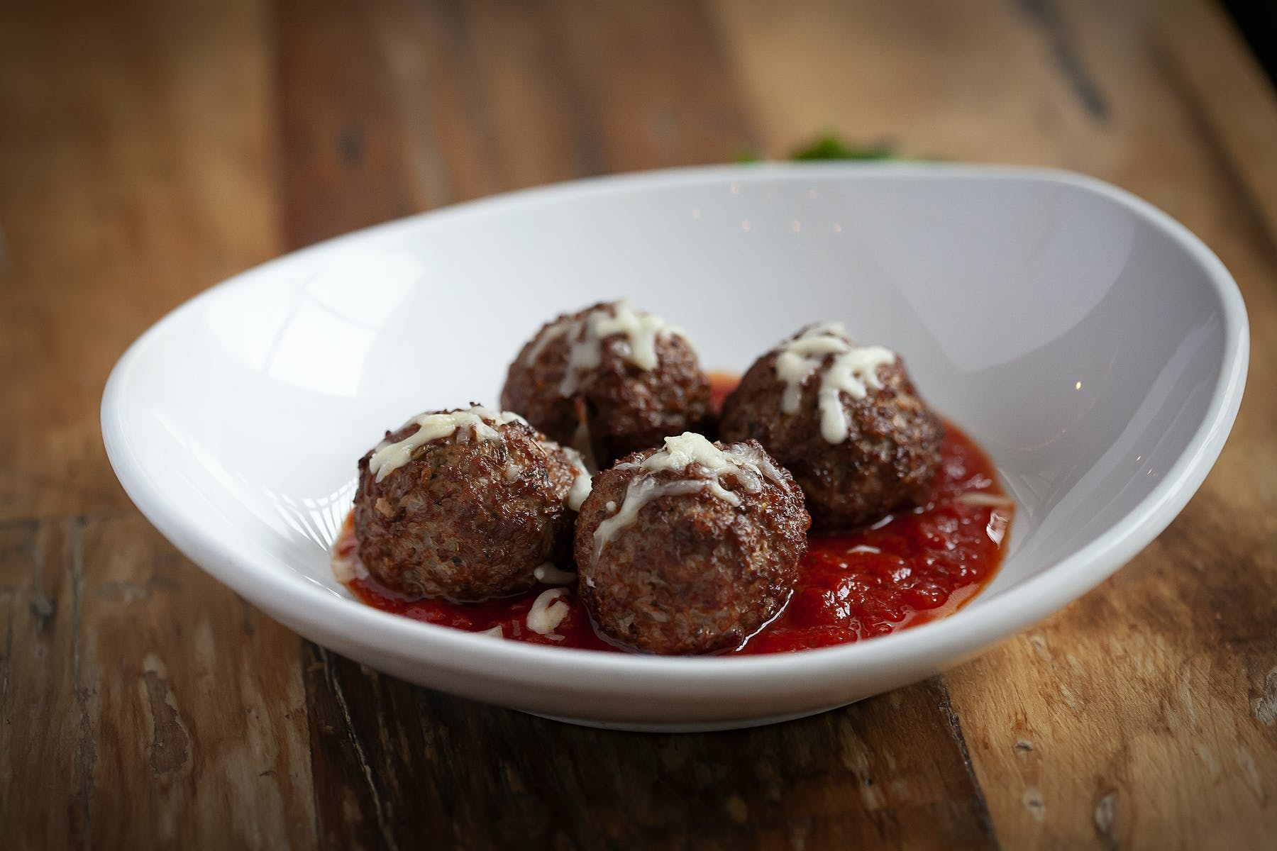 meatballs on a white