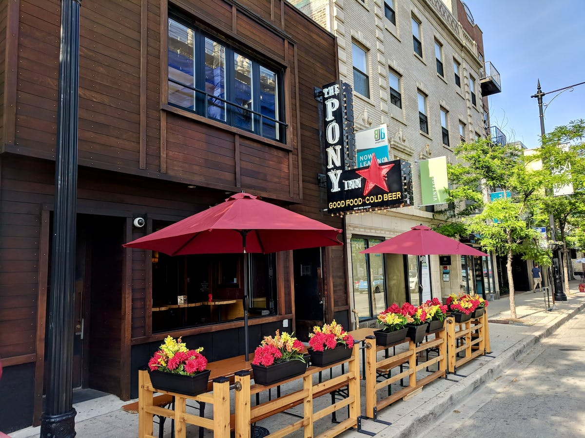 The Pony Inn is a Chicago Sports bar