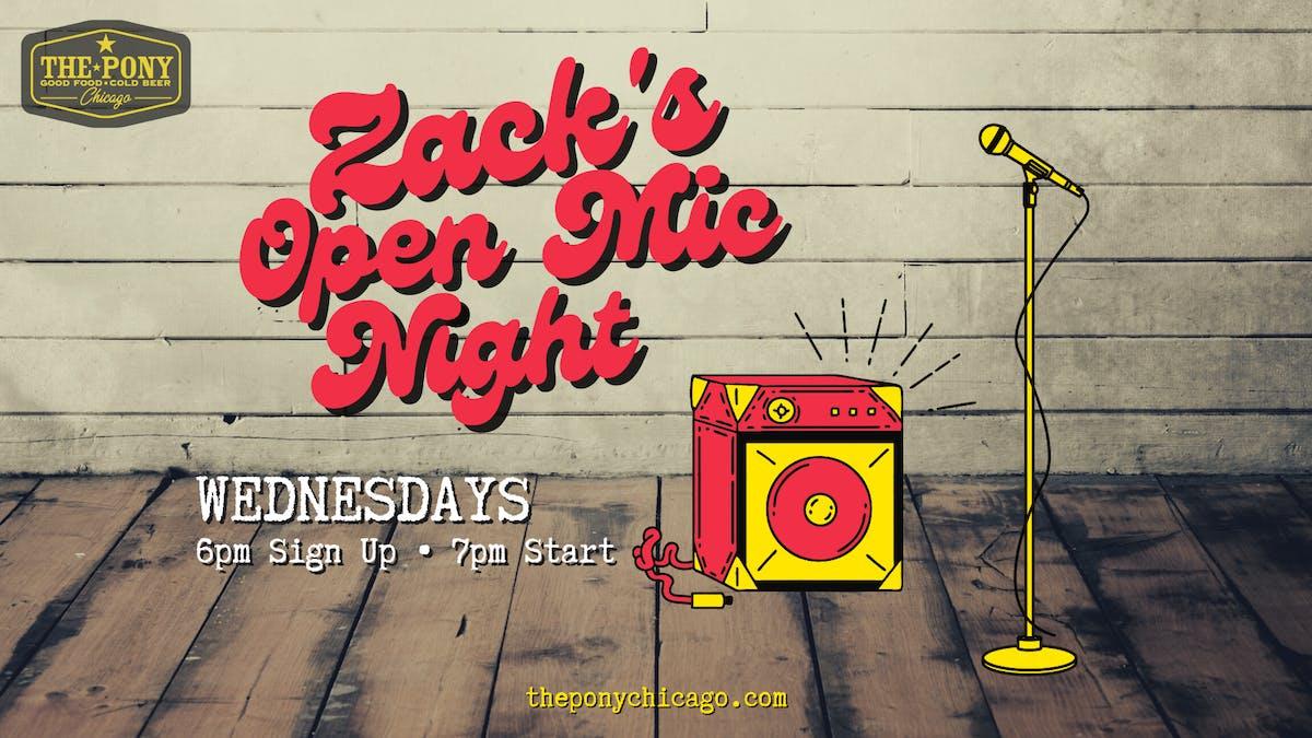 open mic wednesdays at the pony inn chicago