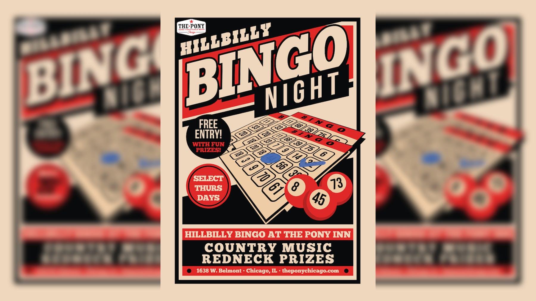 Bingo night at the pony