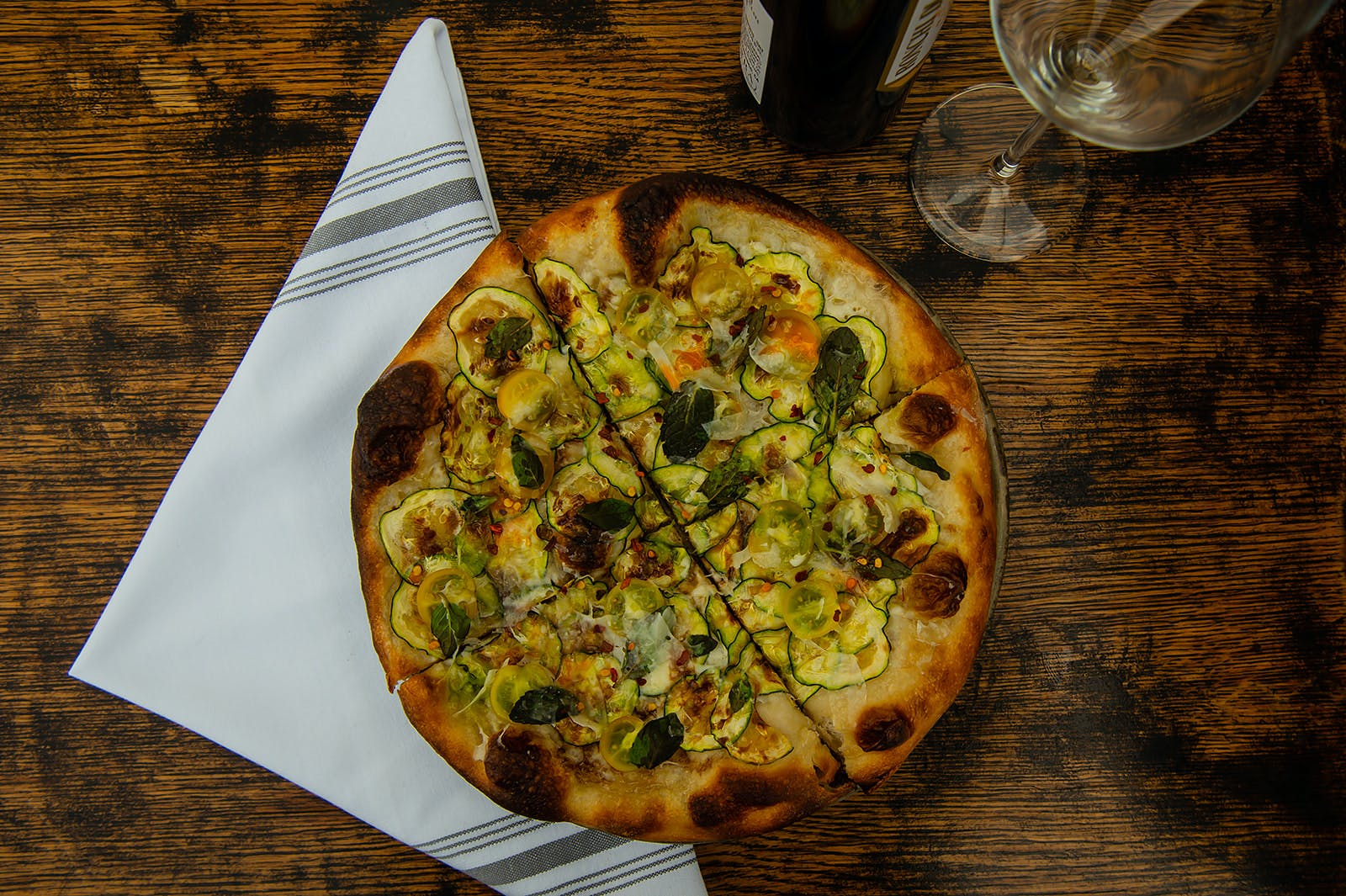 Pizza with Zucchini