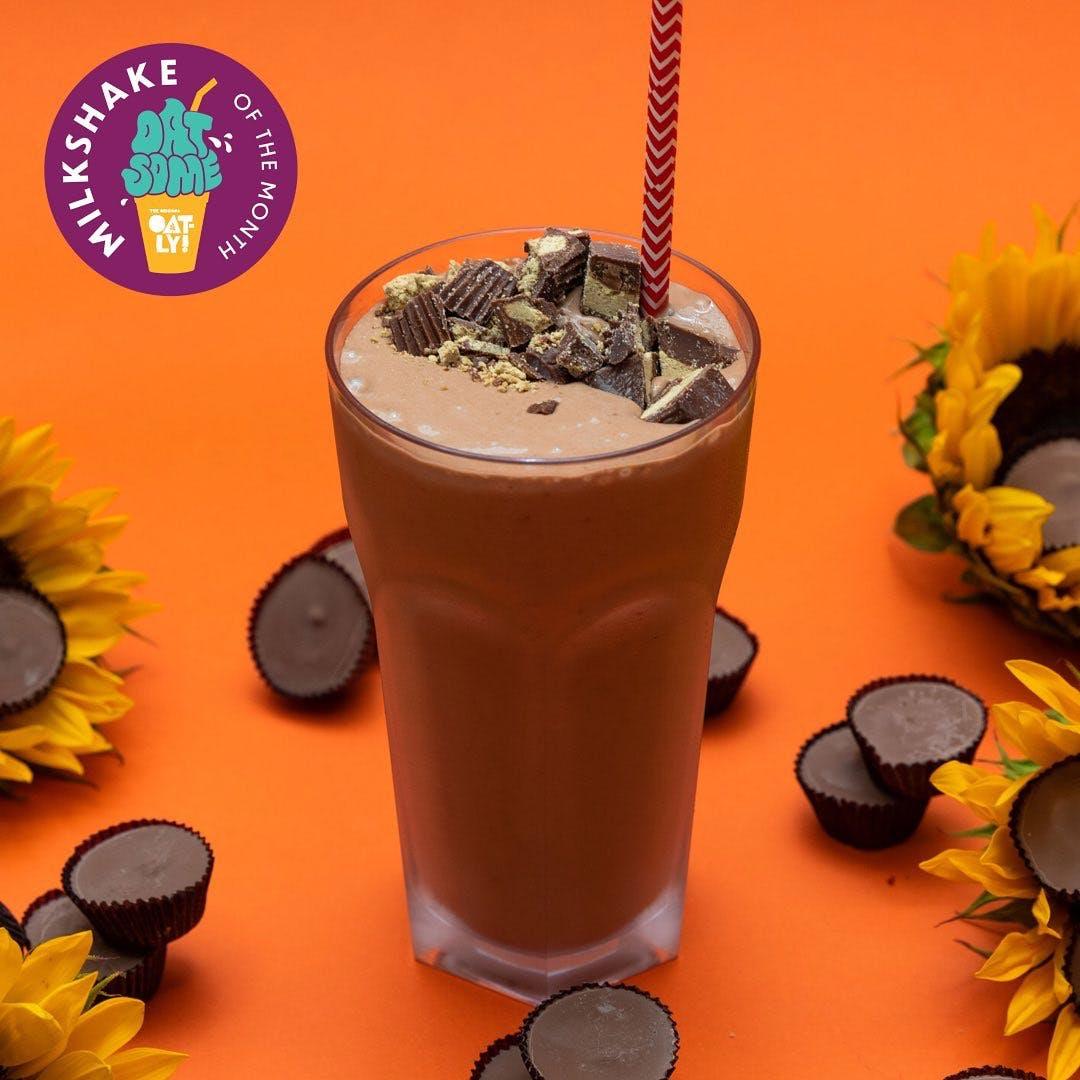 PLNT Burger Chocolate Sunbutter Cup Milkshake