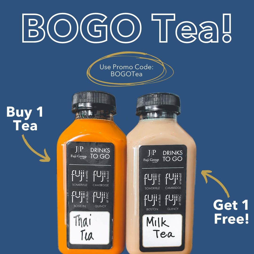 Buy one tea, get one free! Promo Code: BOGOTea