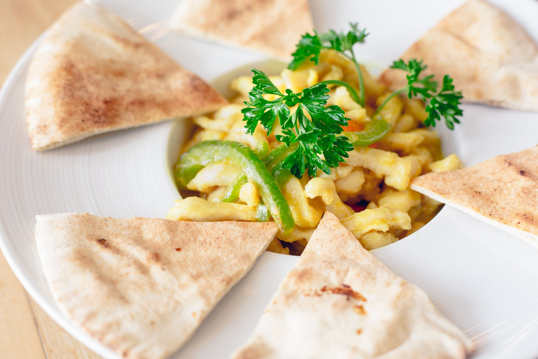 Curry Chicken Pita Appetizer