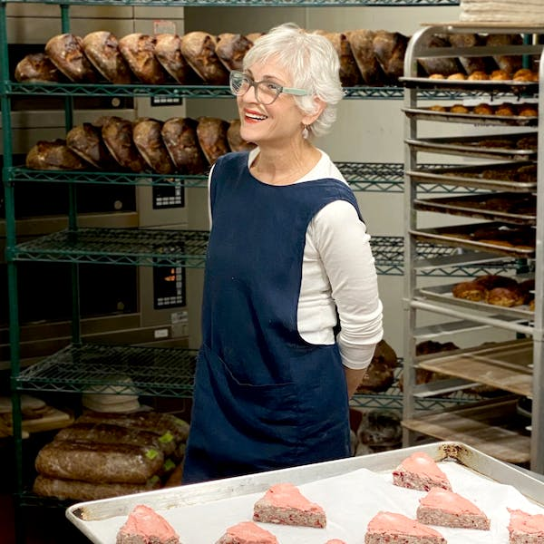 Claudia Fleming in the kitchen at Daily Provisions