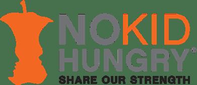 NO KID HUNGRY share our strength logo