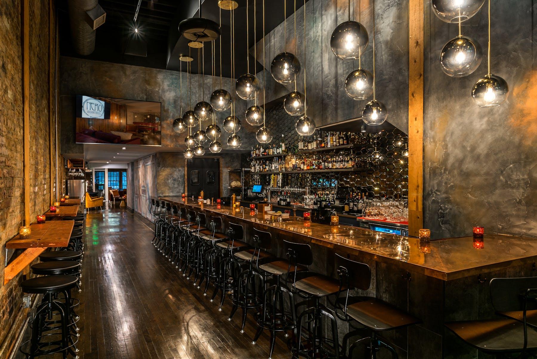 Restaurant bar.