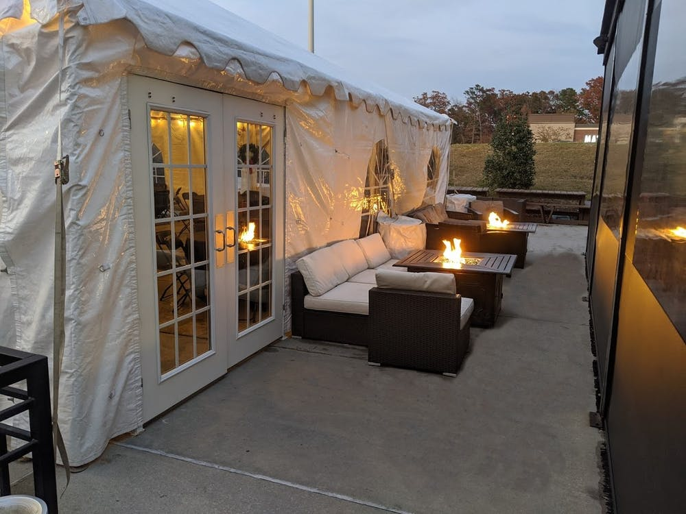 a tent in the room