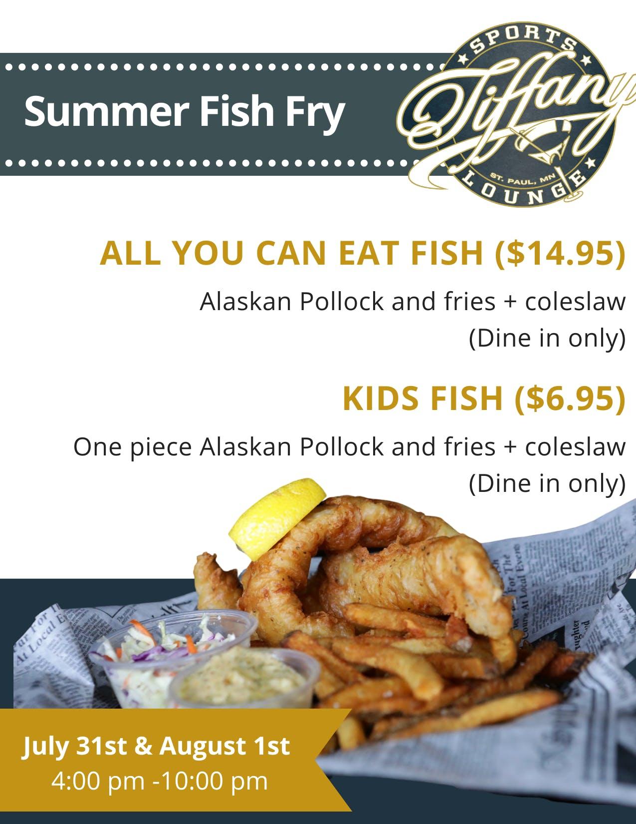 Tiffany Sports Lounge Fish Fry