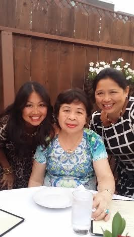 Photo of MARY NGUYEN AREGONI AND THERESA NGUYEN, ALONG WITH THEIR MOTHER, MAMA SUU