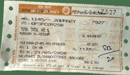 train ticket -univseral taco