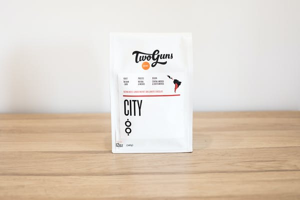 Photo of City (Blend)  Our crowd-pleasing breakfast blend gets you going any time of day with its full-bodied flavor.  Boasting warm, inviting aromas derived from walnut, oak and chocolate, this darker roast offers a rich taste with a grounded finish.