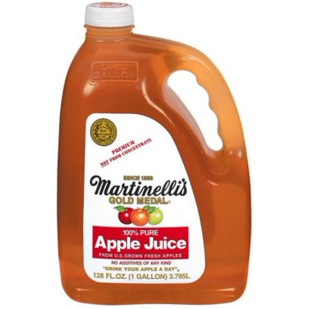 a bottle of apple juicce