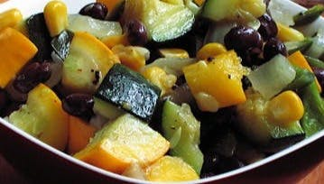 Calabacitas plate of food