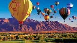 hot balloons in the sky