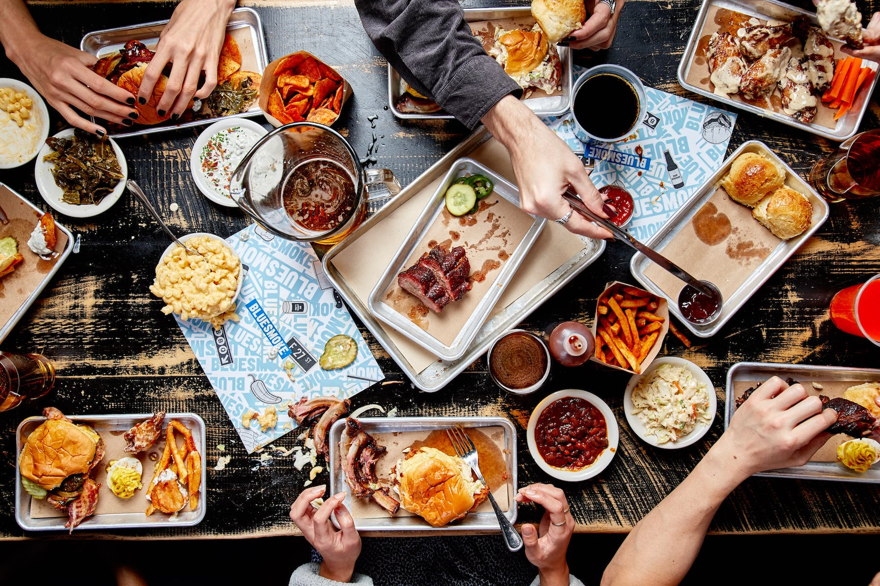 Group of people eating