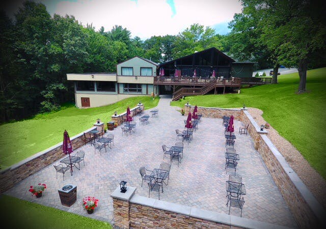 a view of the patio and deck