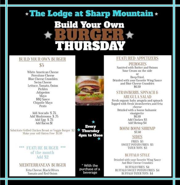 Build Your Own Burger Thursdays