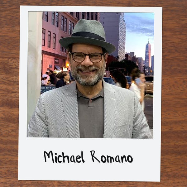 Michael Romano wearing a hat