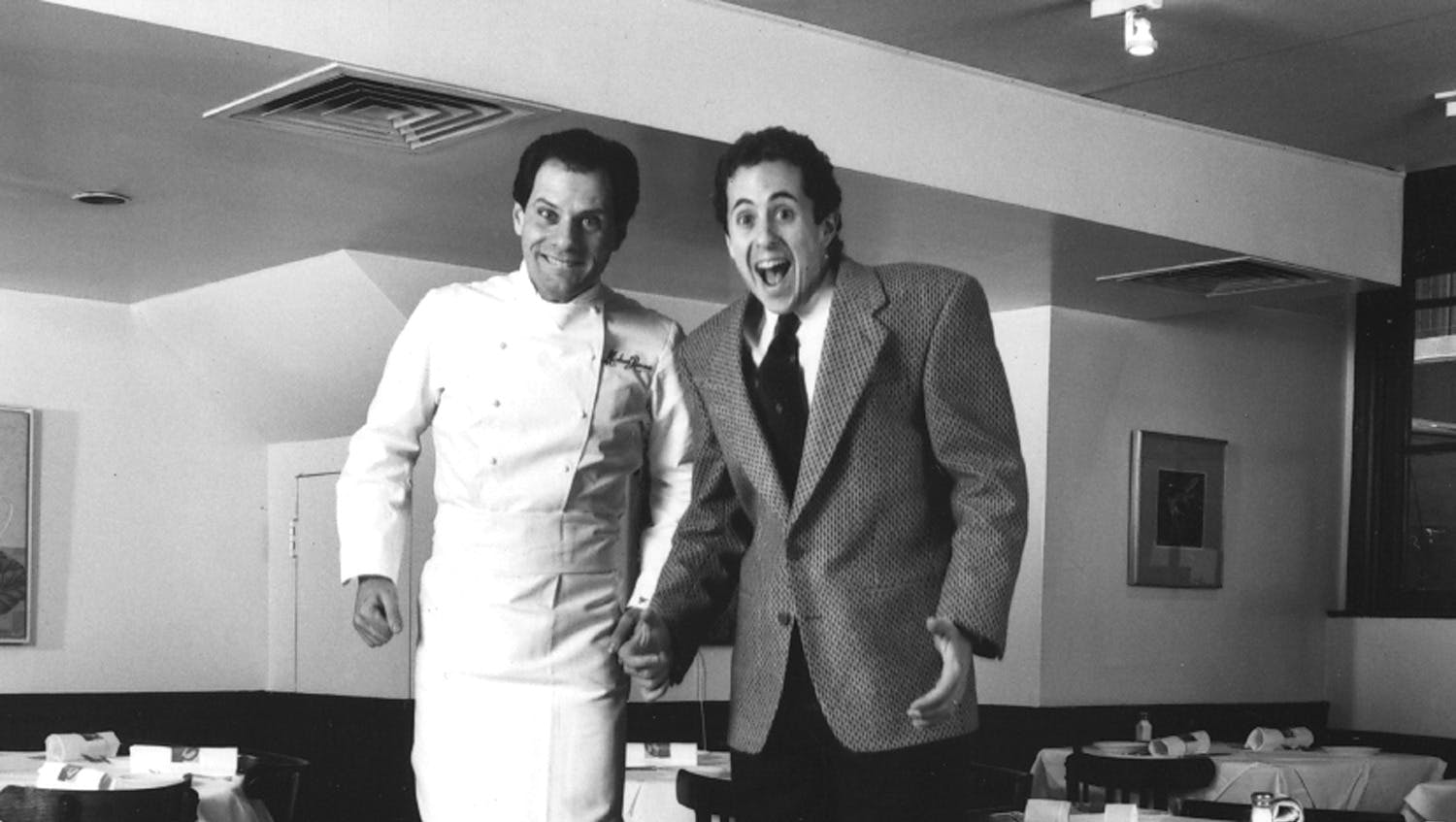 Danny Meyer and Chef Michael Romano clowning it up for the camera