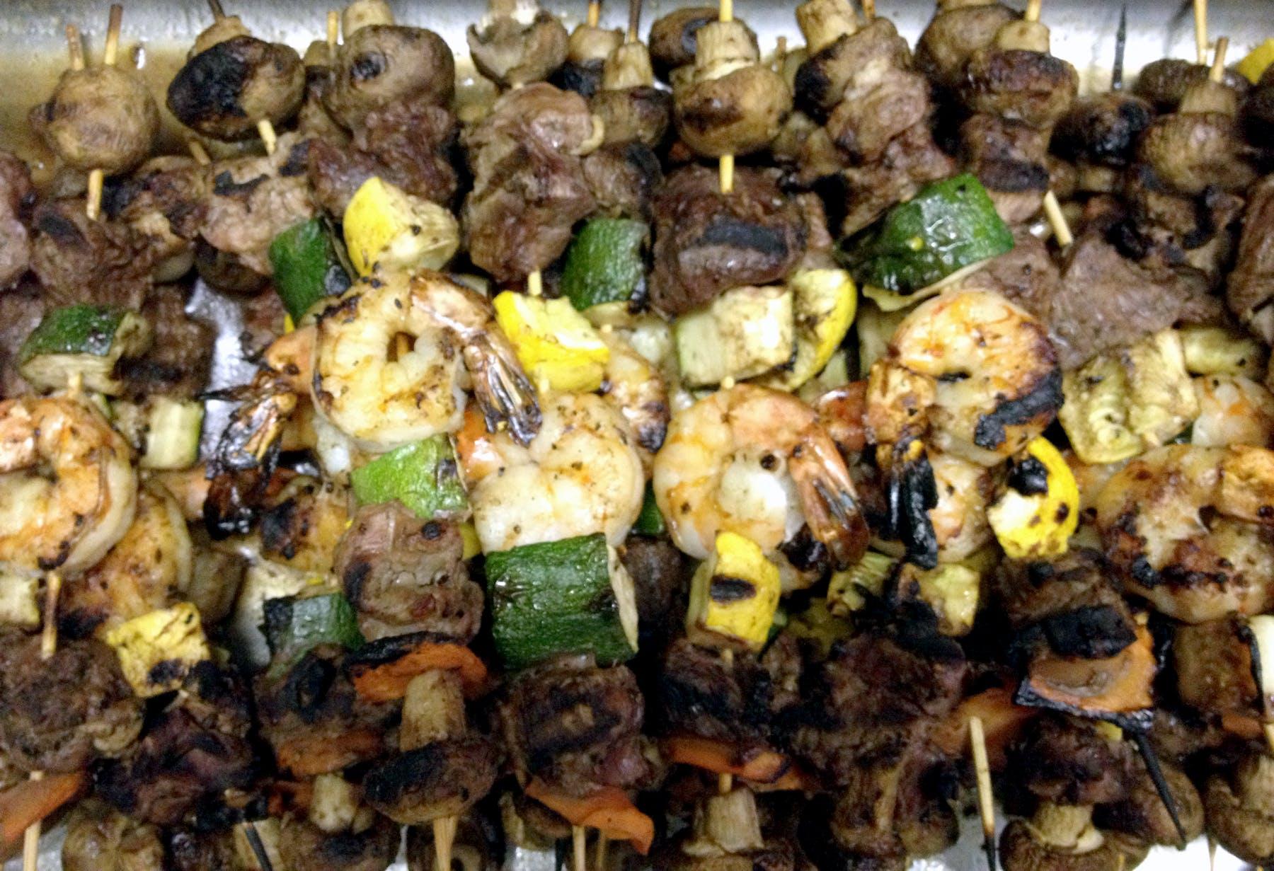 Shrimp & Beef Kabobs
