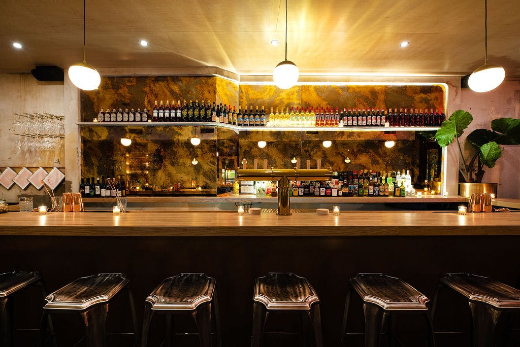a picture of a restaurant and natural wine bar