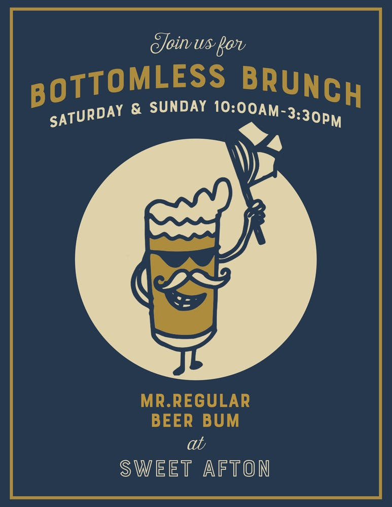 Bottomless Brunch - weekends 10 am - 3:30 pm