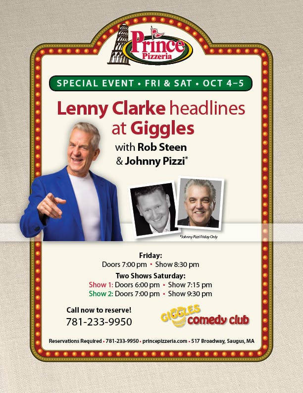Lenny Clarke, Rob Steen are posing for a picture