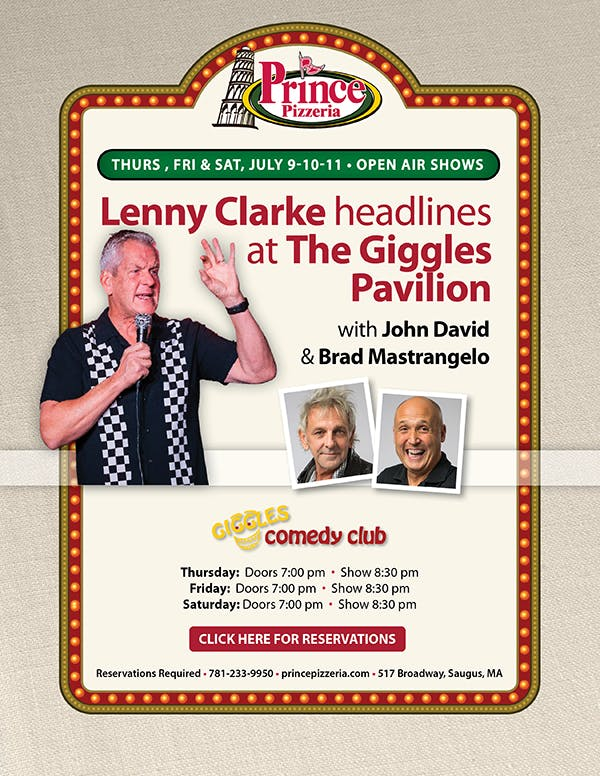 Lenny Clarke, Brad Mastrangelo are posing for a picture