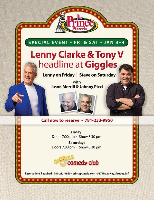Lenny Clarke, Tony V. are posing for a picture