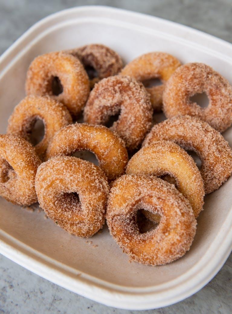 a doughnut on a plate