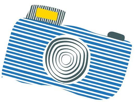 a close up of a camera logo