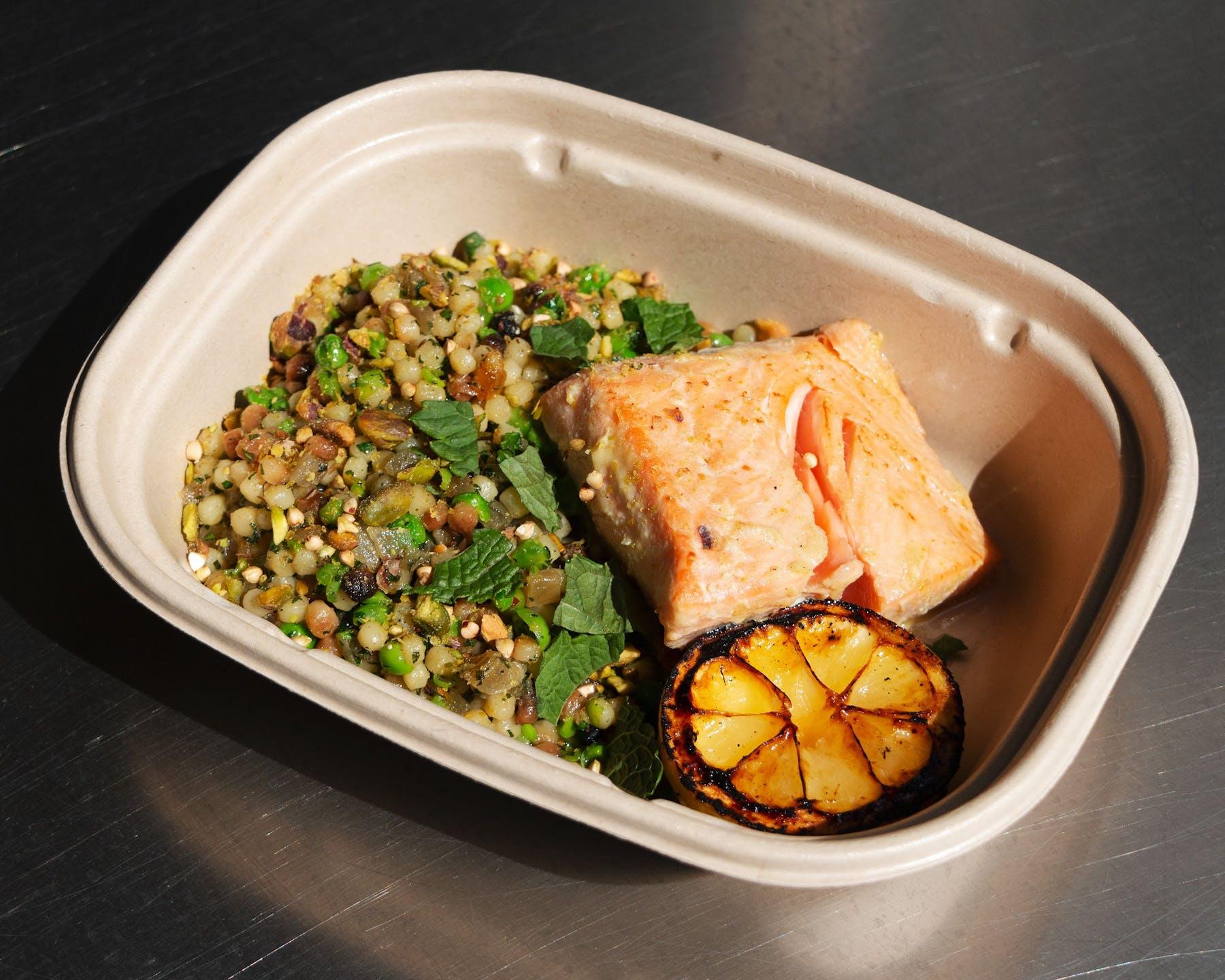 salmon boxed dinner
